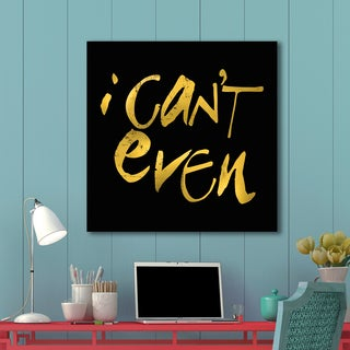 Portfolio Canvas Decor IHD Studio 'I Can't Even' Black/Gold Canvas Stretched and Wrapped Ready-to-hang Print Wall Art