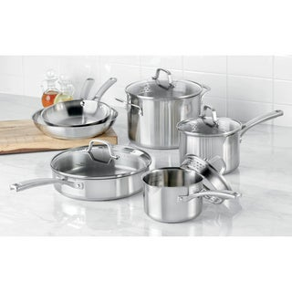 Calphalon Classic Stainless Steel 10-Piece Cookware Set 1891242
