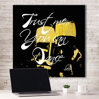 Portfolio Canvas Decor IHD Studio 'Trust Me, You Can Dance - Beer Black' Canvas Wall Art