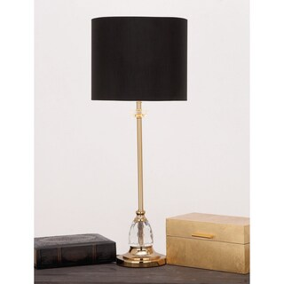 Urban Designs Lynette Crystal/Brass Buffet Console Table Lamp