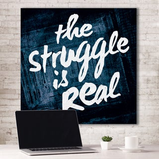 Portfolio Canvas Decor IHD Studio 'The Struggle Is Real - Blue' Canvas Print Stretched/Wrapped Ready-to-hang Wall Art