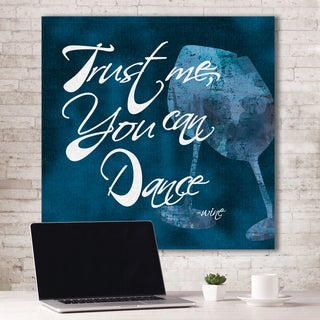 Portfolio Canvas Decor IHD Studio 'Trust Me, You Can Dance - Wine Blue' Canvas 16-inch x 16-inch Wall Art