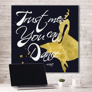 Portfolio Canvas Decor ID Studio 'Trust Me, You Can Dance - Wine' Canvas Print Stretched/Wrapped Ready-to-hang Wall Art