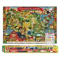 Farm & Food Map Of The USA Pictorial Poster