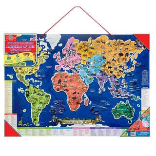 Geography toys for less overstock ts shure wooden magnetic animals of the world map gumiabroncs Images