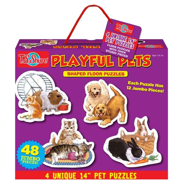 T.S. Shure Playful Pets 24 Piece Jumbo Floor Puzzle
