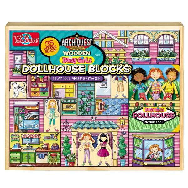 ArchiQuest 35 Piece Daisy Girl Dollhouse Blocks
