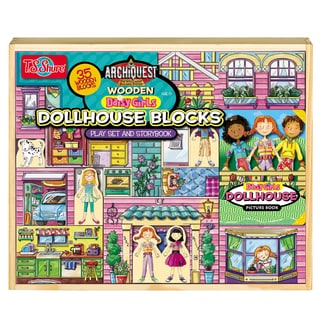 ArchiQuest 35 Piece Daisy Girl Dollhouse Blocks