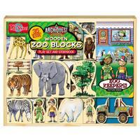 T.S. Shure ArchiQuest 35 Piece Zoo Wooden Blocks