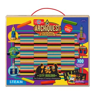 ArchiQuest Deluxe City Builder Wooden Blocks