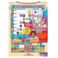 74 Piece Wooden Magnetic Responsibility Chart