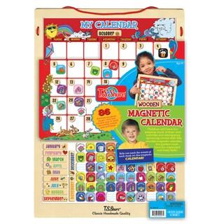 T.S. Shure 86 Piece Wooden Magnetic Calendar