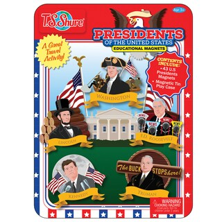 Presidents Of The United States Magnetic Tin Playset