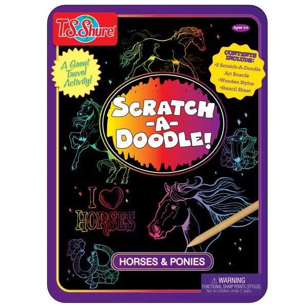 T.S. Shure Scratch-A-Doodle Horse Activity Tin