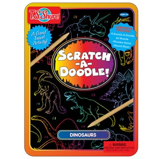 T.S. Shure Scratch-A-Doodle Dino Activity Tin