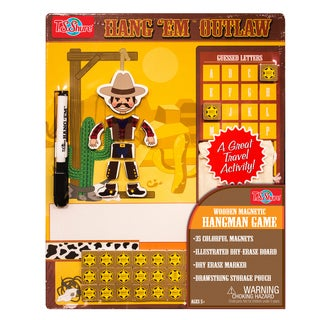 T.S. Shure Outlaw Wooden Magnetic Hang Em Game