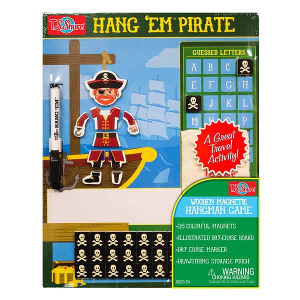 T.S. Shure Pirate Wooden Magnetic Hang Em Game