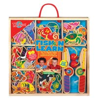 Fish N Learn Numbers Wooden Magnetic Fishing Set