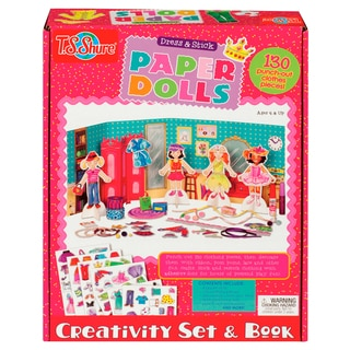 Dress and Stick Paper Dolls Creativity Set and Book