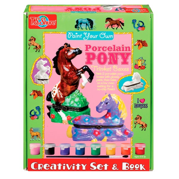 Paint Your Porcelain Ponies Creativity Set and Book