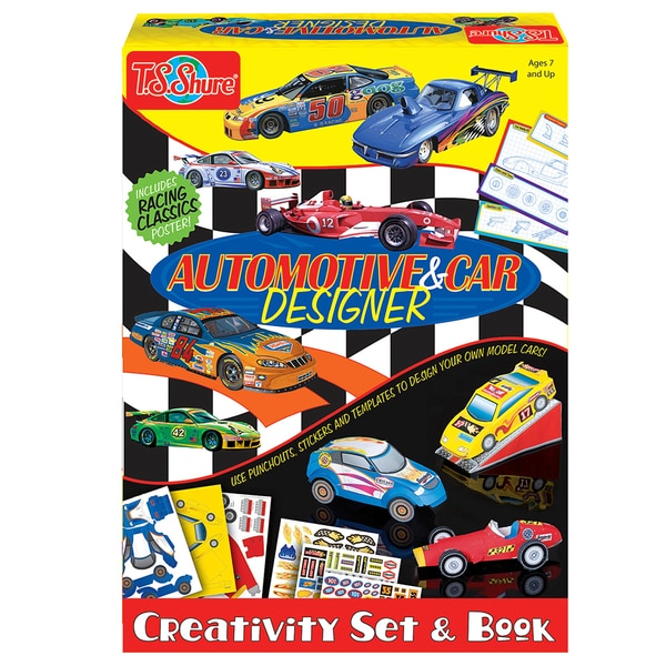 Automotive and Car Designer Creativity Set and Book