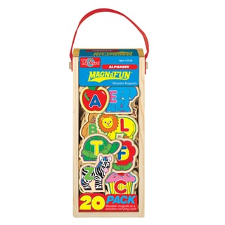 ABCs Wooden Magnets 20 Pieces MagnaFun Set