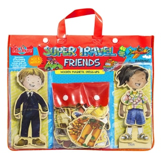 Travel Pilot Friends Wooden Magnetic Dress-Up Friends