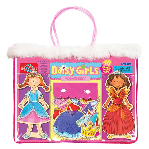 Daisy Girls Princesses Wooden Magnetic Dress-Up Dolls