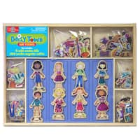Daisy Girls Our Town Wooden Magnetic Dress-Up Dolls
