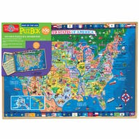 T.S. Shure 500 Piece United States Wooden Puzzle