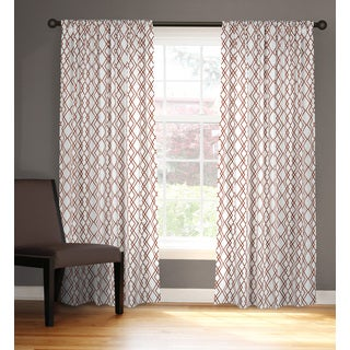 Rizzy Home Arden Loft Geometric Rust Red Cotton 42 x 84-inch Window Panel Pair