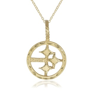 Pittsburgh Steelers 14k Yellow Gold 16-inch Logo Pendant Necklace