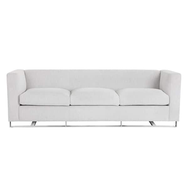 Phenomenal Hemingway White Marble Fabric Keaton Modern Sofa Alphanode Cool Chair Designs And Ideas Alphanodeonline