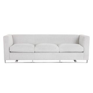 Hemingway White Marble Fabric Keaton Modern Sofa