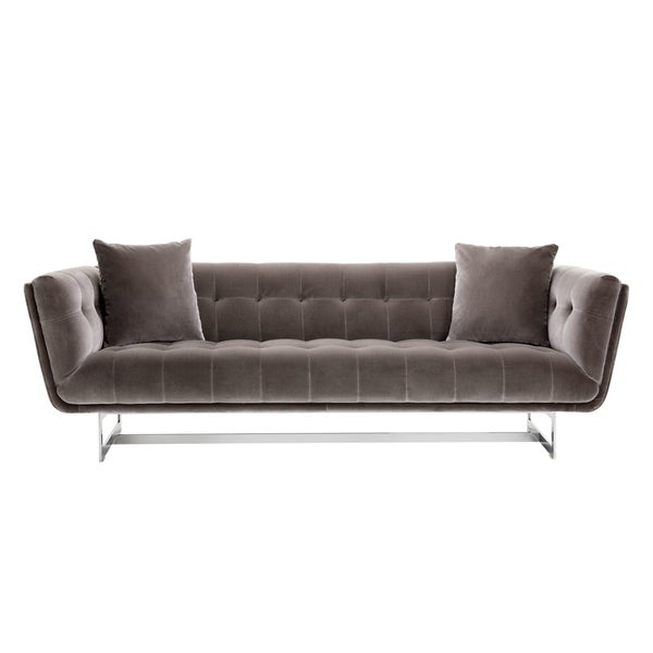 Shop Giotto Grey Fabric Centennial Contemporary Sofa - On Sale ...