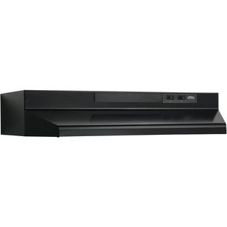 Broan Black Metal 36-inch 2-speed 4-way Convertible Under Cabinet Range Hood