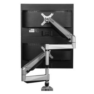 Loctek Silver Aluminum Dual LCD Adjustable Monitor Stand