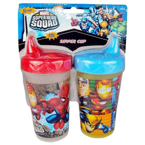 Marvel Super Hero Squad 10-ounce Sipper Sippy Cup (Set of 2)