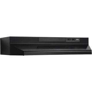 Broan Black Metal 30-inch Two-speed 4-Way Convertible Under-cabinet Range Hood