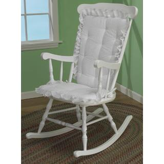Baby Doll Eyelet Ruffled Rocking Chair Cushion