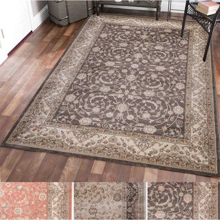 Gallina Vines Cream/Rust/Brown Olefin Oriental Area Rug (7'10 x 10'6)