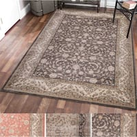 Gallina Vines Cream/Rust/Brown Olefin Oriental Area Rug - 7'10X10'6