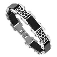 Men's Stainless Steel Black Plated Bracelet