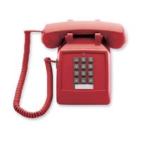 Scitec Red Single Line Desk Phone