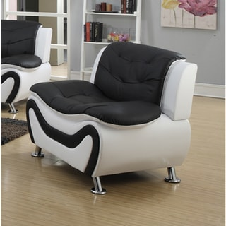 Tiffany Contemporary Modern-style Black and White Relaxing Chair