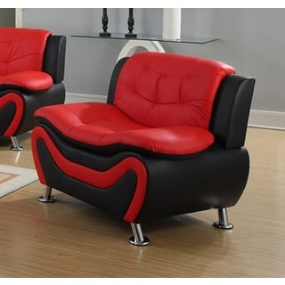 Roselia Black and Red Relaxing Contemporary Modern-style Chair