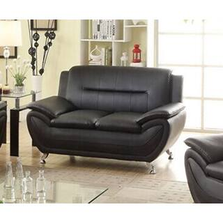 Deliah Faux Leather Black Urban Style Loveseat|https://ak1.ostkcdn.com/images/products/12837722/P19603207.jpg?impolicy=medium