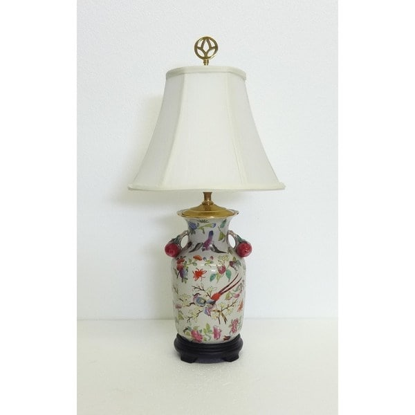 Spring Blossom Phoenix Multicolored Porcelain Table Lamp