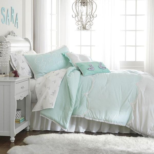 Frank and Lulu Cotton Rich Polka Dottie Comforter Set with Shams