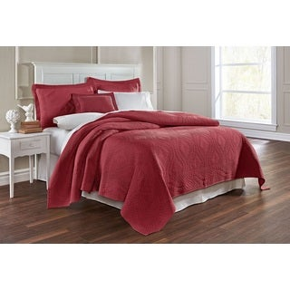 Suzi Terracotta Egyptian Cotton Embroidered Coverlet